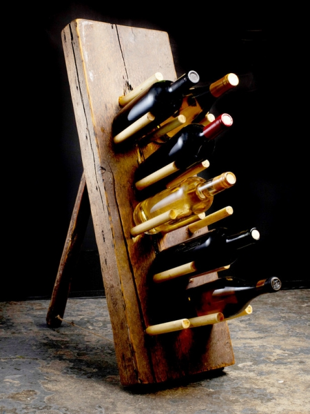 How to Build a Primitive Wine Rack