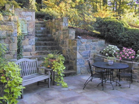 Wow with Flagstone Patios and Landscaping from Johnson's Landscaping Service | Rockville MD